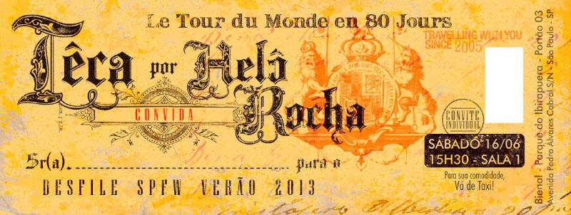 Convite Desfile - Têca Helô Rocha