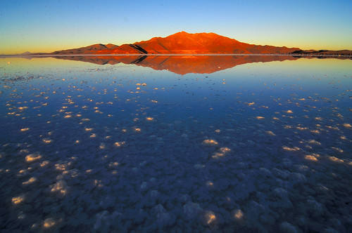On the Salar de Uyuni at Sunrise by Dec-