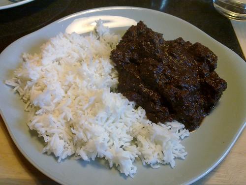 Filipino Pork Dinuguan Recipe (Pork Blood Stew) and Rice