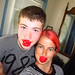 Me and Aiden being goofy with Babybel wax lips. Erin, ON 20MAY12
