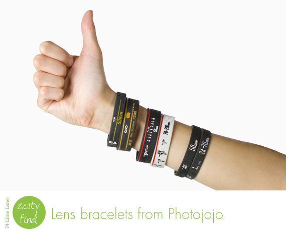 {zesty finds} lens bracelets from Photojojo