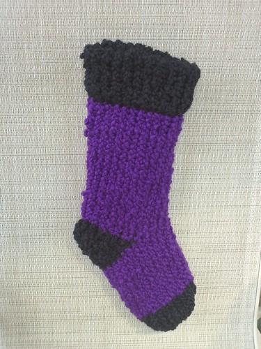 Stocking Knit Stitch On Loom : loom knit stocking - KNITTING