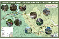 Highway 20 Hikes and Sights Map thumbnail