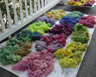 dyed locks drying