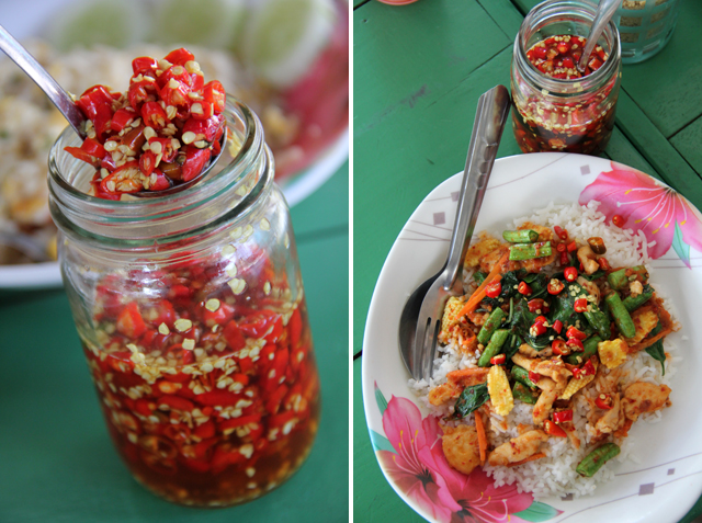 Prik nam pla (chillies in fish sauce)