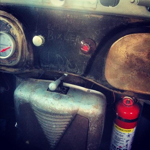 Edsel Bixler - 1939 Ford interior