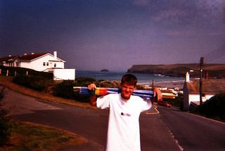 Me at Polzeath, Cornwall 1997