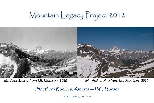 Assiniboine from Mt. Morrison - 1916 and 2012