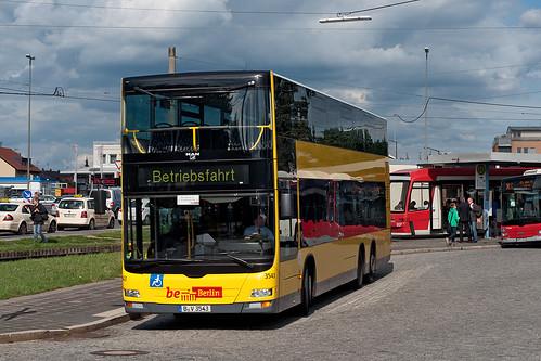 Ein Berliner in Nürnberg: Wagen 3543 der BVG in der Wendeschleife in Nürnberg-Thon