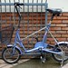 "Motomachi purple ""one touch picnica"" folding bicycle by julesberry2001"