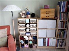 Re-covered boxes and fabric drawers