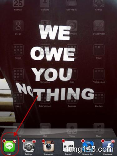 วิธีเอา Sticker LINE ของญี่ปุ่นมาลง iPhone iPad โดยไม่ต้อง Jailbreak