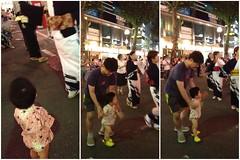 盆踊り、踊る(?)とらちゃん (2012/7/27)