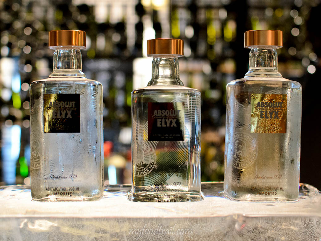 Absolut Elyx Launch - Absolut Elyx bottles
