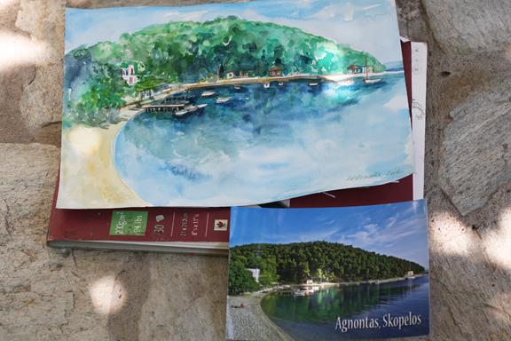 Agnontas, my watercolor