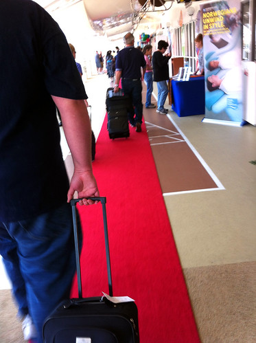 Embarkation Down the Red Carpet
