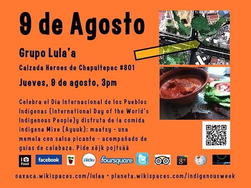 9 de Agosto Comida Mixe (Ayuuk) @ Oaxaca 08.2012 #ipw2012 #rtyear2012