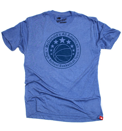 Blue McDonald's All American T-Shirt By Sportiqe Apparel