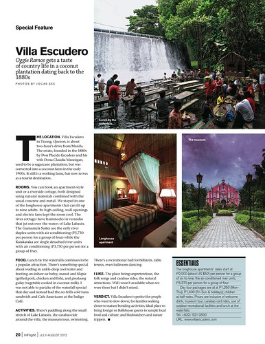 InFlight July-August Villa Escudero