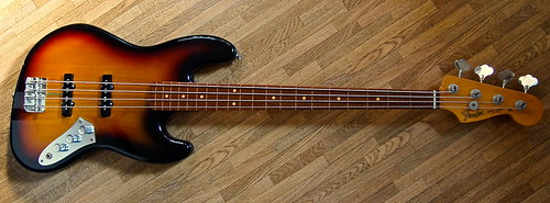 Jaco Pastorius Jazz Bass FL 3color Sunburst