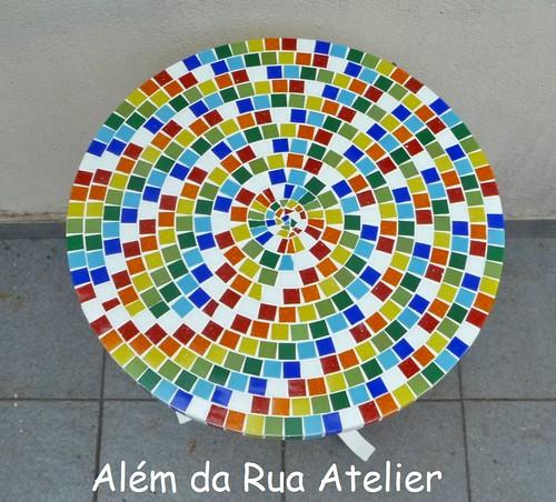 Tampo de mosaico colorido