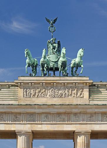 Detalle Puerta de Brandenburgo, Berlin, Alemania