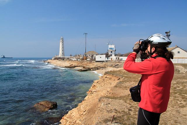 Anton taking photos