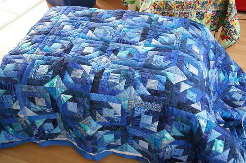 Blue Pine-Apple gequiltet