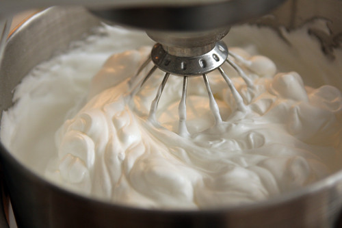 whipping egg whites for angel food cake