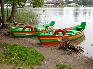 Rowing boats at Trakai, Lithuania
