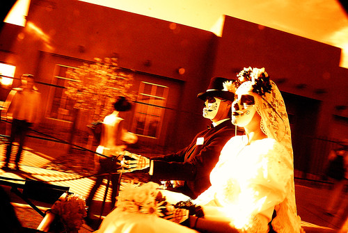 Day of the Dead--Bride & Groom