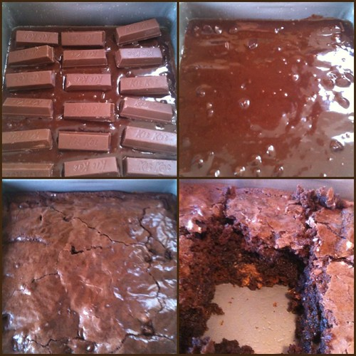Kit kat brownies