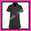 PR687 - Lily Spa Tunic - Black with hot pink piping