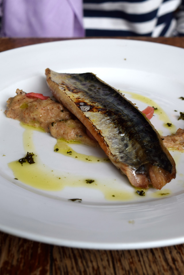 Torched Mackerel and Brown Bread Puree at Wyatt and Jones, Broadstairs | www.rachelphipps.com @rachelphipps