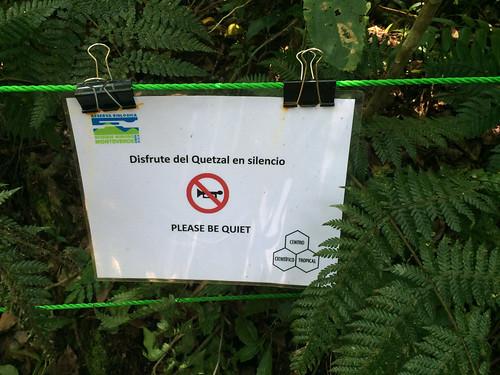 La Réserve de Monteverde: chuuut !