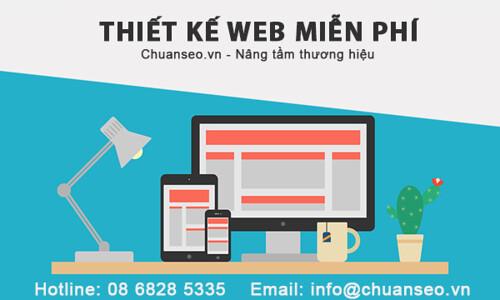 Thiết kế web miễn phí chuanseo.vn