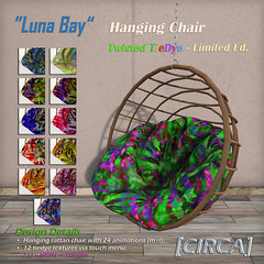 Luna Bay - Hanging Chair - Twisted TieDye