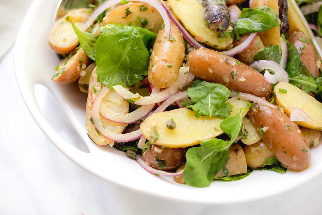 French Potato Salad with Baby Arugula