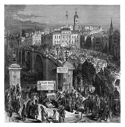 003-Puente de londres en 1872-London A Pilgrimage 1890- Blanchard Jerrold y Gustave Doré- © Tufts Digital Library