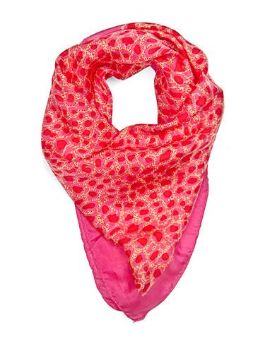 Colored animal print foulard
