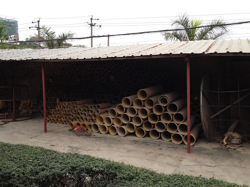 Big Mortar Tubes For Firing Shells  - Epic Fireworks China Trip 2012