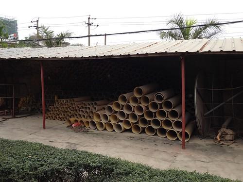 Big Mortar Tubes For Firing Shells  - Epic Fireworks China Trip 2012