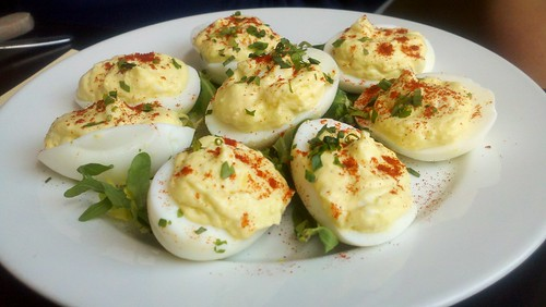 Hair of the Dogpatch Deviled Eggs