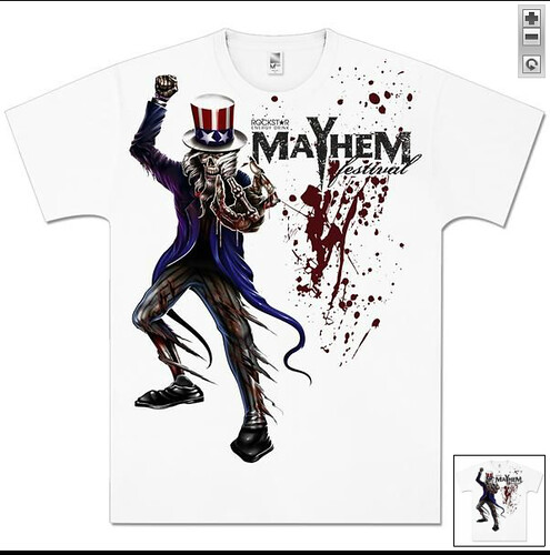 2012 Mayhem Presale Merch