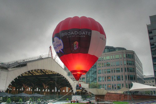 Hot air balloon at Exchange Square