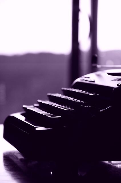 typewriter-vintage-cyanotype.jpg from Flickr via Wylio