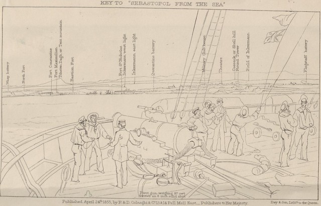 Key to Sebastopol from the sea - sketched from the deck of H.M.S. Sidon