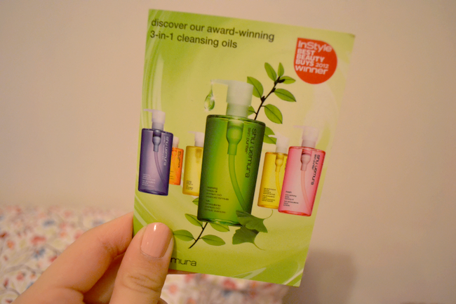 daisybutter - UK Fashion Blog: glossybox march 2012, shu uemura cleansing oil review