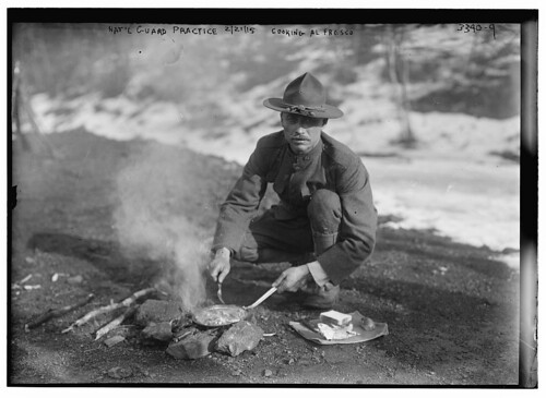 Nat'l Guard practice, 2/21/15 -- cooking al fresco  (LOC)