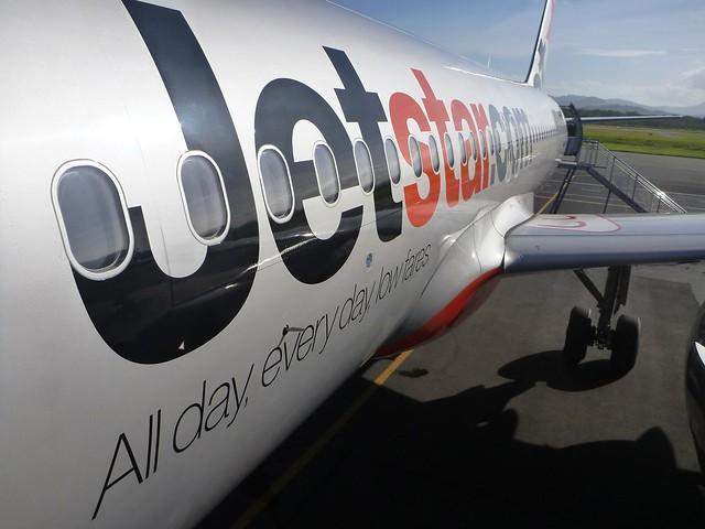 Boarding Jetstar Airbus A320 aircraft